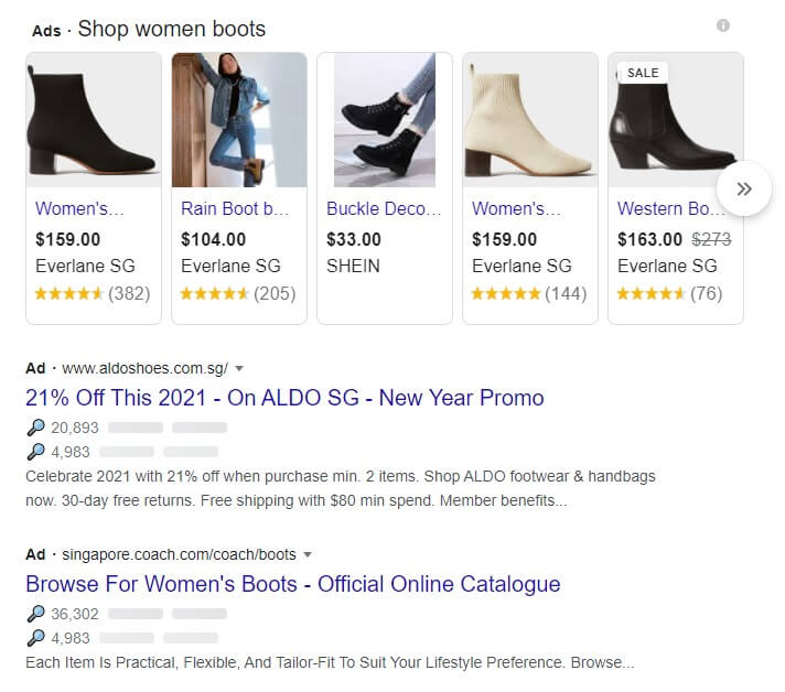 Google ads sample